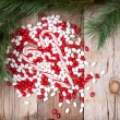 Royalty-Free Stock Photo: Christmas candy on wooden background