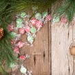 Christmas candy on wooden background — Stock Photo