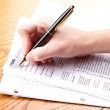Stock Photo: Filling out 1040 tax form