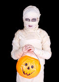 Kids in Halloween costume — Stock Photo
