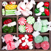 Assorted Christmas candy — Stock Photo