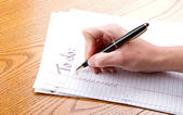 Making a to do list — Stock Photo