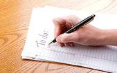 Hacer una lista de tareas — Foto de Stock