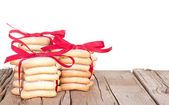 Christmas cookies stacked — Stock Photo