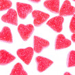 Heart shape candy on white — Stock fotografie