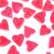 Heart shape candy on white — Stock Photo