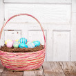 Easter Basket with Easter eggs — Stock Photo #19434473