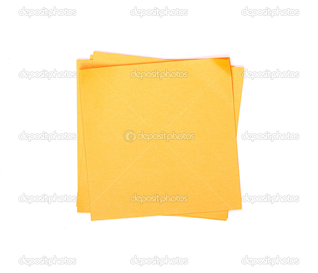 Orange sticky note on white background — Stock Photo #21215927