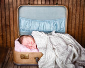 Newborn infant baby sleeping — Stock Photo