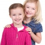 Two children smiling — Stock Photo