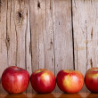 Apples in a row — Stock Photo
