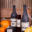 Potion bottles with pumpkins — Stock Photo #31716711