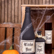 Potion bottles with pumpkins — Foto de Stock