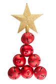 Jingle bells shaped like a Christmas tree — Stock Photo
