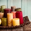 A collection of decorative candles — Stock Photo