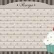 Stock Vector: Retro cupcake recipe card