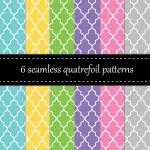 Twelve seamless geometric patterns — Stock Vector