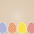 Stitched Easter eggs with polka dots — Stock Vector