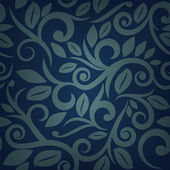 Blue seamless floral background — Stock Vector