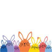 Group of Easter bunnies — Stockvektor
