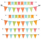 Blank banner, bunting or swag templates — Stock Vector