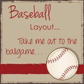 макет ретро бейсбол — Cтоковый вектор