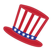 Patriotic Uncle Sam hat — Stock Vector