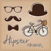 Hipster element collection — Stock Vector
