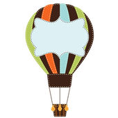 Vintage or retro hot air balloon on transparent background — Vecteur