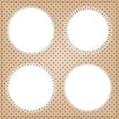 Vintage circle frame layout  — Stock Vector