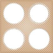 структура кадра винтаж круг — Cтоковый вектор