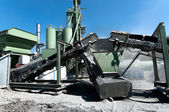 Cement Factory on road construction site, concrete facility — Stock Photo