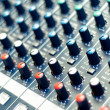 Detail of a music mixer in studio — Stock fotografie