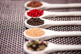 Detail of hot spices, black pepper close-up — Stock Photo