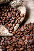 African aromatic bio coffee in vintage packaging — Stock Photo