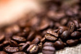 Pile of fresh and bio aromatic coffee beans — Stock Photo