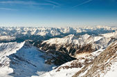 Winter landscape on a skiing resort in the Alps — ストック写真