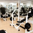 New modern gym and fitness club with sport equipment — Stock Photo #44582527
