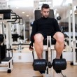 Bodybulider training in gym, leg day exercises at fitness center — Stock Photo