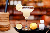 Margarita cocktail drink closeup served cold in bar and casino — Stock Photo