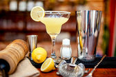 Fresh lime margarita served in bar and casino — Stock Photo