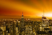 New York City the night — Stock Photo
