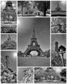 Tour Eiffel montage collage — Stock Photo
