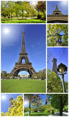 Tour Eiffel montage collage — Stock Photo