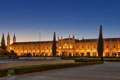 Jeronimos Monastery Lisbon by night — Stock Photo