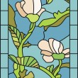 Floral Stained Glass — Stock Vector