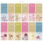 2013 日历设置 — 图库矢量图片
