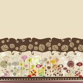 Decorative Floral Background — Vettoriale Stock