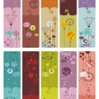 Floral Bookmarks or Banners — Stock Vector #12914817