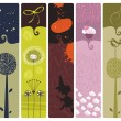 Various Bookmarks or Banners — Stock Vector #12914975